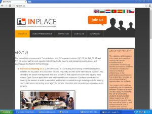 IN PLACE Website homepage